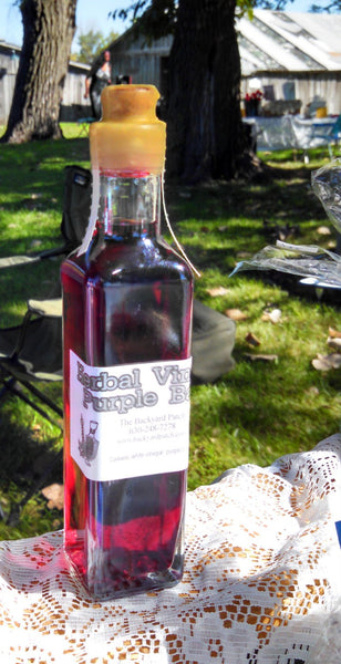 Herbal Vinegar Gourmet Purple Basil flavored Herb vinegar, basil, purple basil