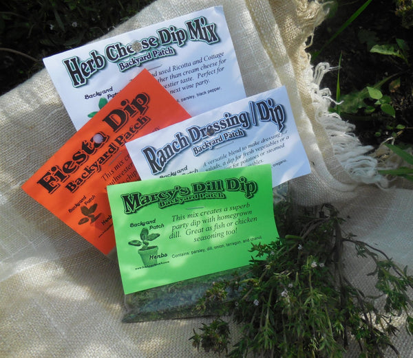 Dip Mix Collection Choose 1 of 8 different, hand-blended, home grown Dip blends, Backyard Patch