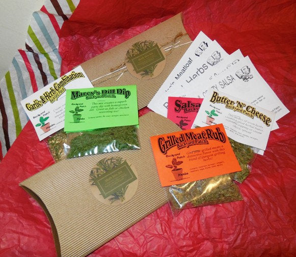 Grilling Blends collection Set of 5 dry Herb Seasoning Blends, decorative box