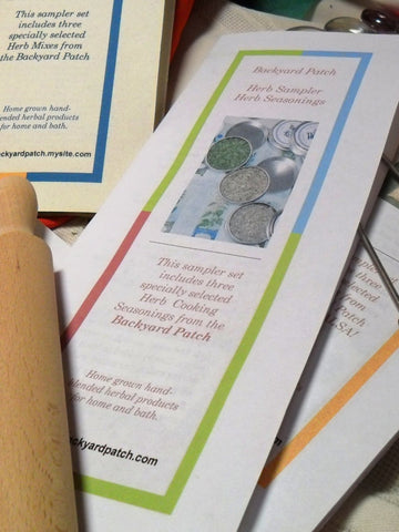 Sampler of the Month, 12 month subscription, dried herbs, recipes, perfect gift, made to order, no salt, gluten free