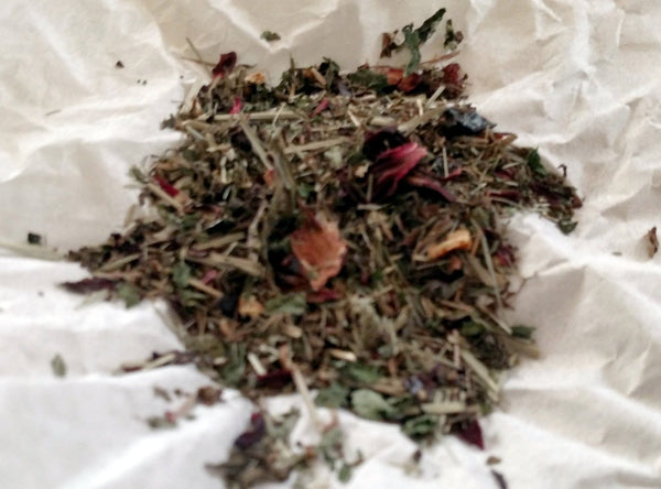 Relaxation Holy Basil Loose Herbal Tea, Tulsi, lavender, hibiscus, lemon balm, mint, rosehips, caffeine free, organic herb tea, lemon grass