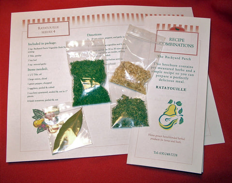 Make Gourmet Dinner at Home - Recipe Kit with Herbs - Ratatouille, packaged with Herbs, ready-to-make, let's you be a chef