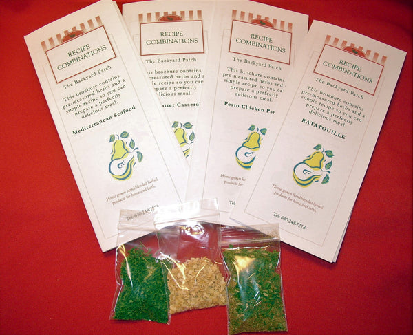 Corporate Gifts - Herb and Recipe Combinations (recipe Kits) herbs included, recipe included, party favor