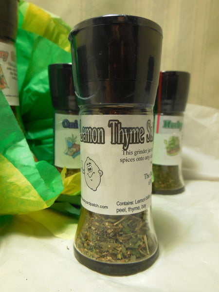 Salt Substitute Grinder Jars, salt-free blends created with garlic, onion, basil, rosemary