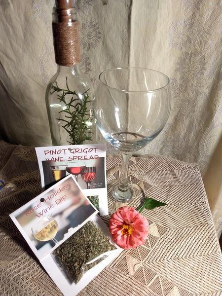 Wine Dip Mixes, 6 different herb blends for mixing a dip with wine
