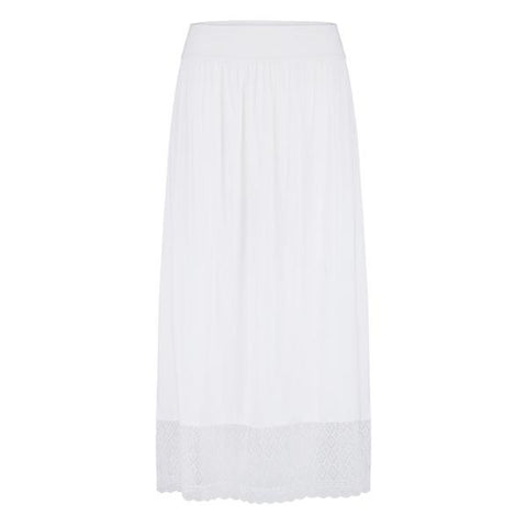 Les Lunes Long Lace Skirt White