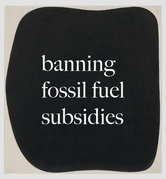 Banning fossil fuel subsidies