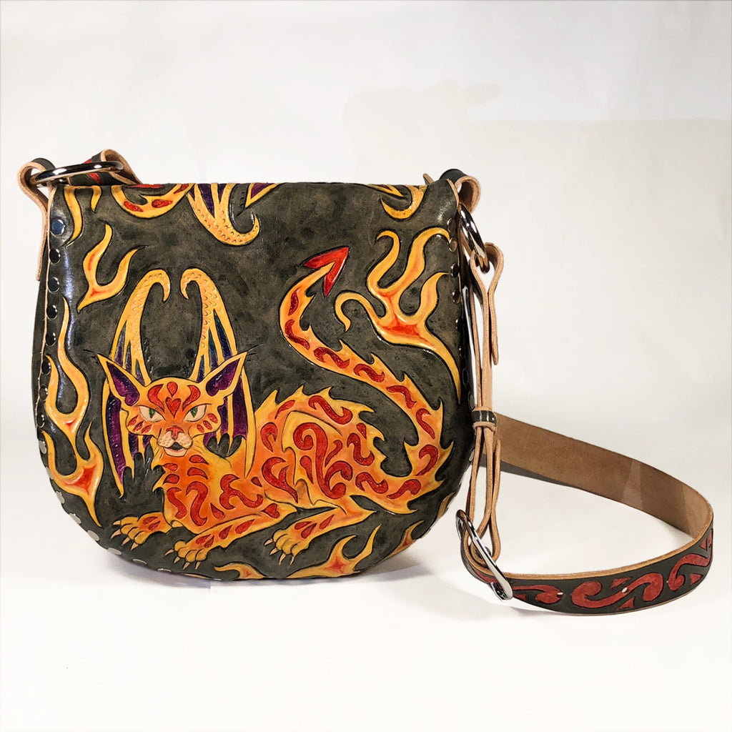 Cat Dragon Hobo Back Eulalee Leather