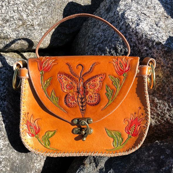 Butterfly Tote – Tan