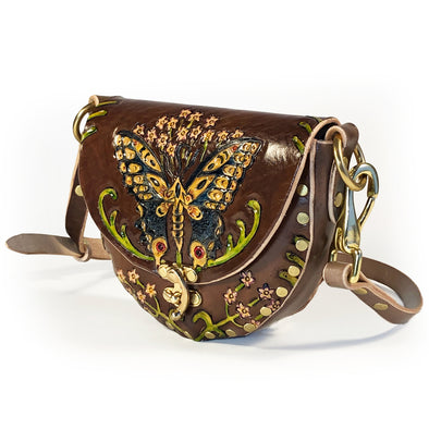 Swallowtail Mini Hobo — Brown
