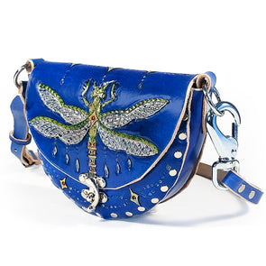 Dragonfly Mini Hobo — Blue