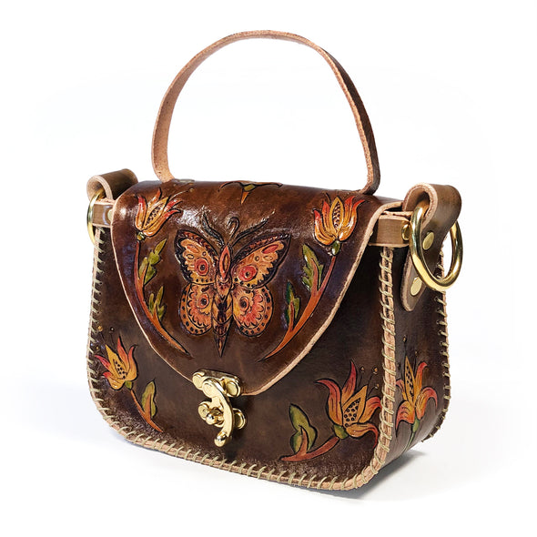 Butterfly Tote – Brown
