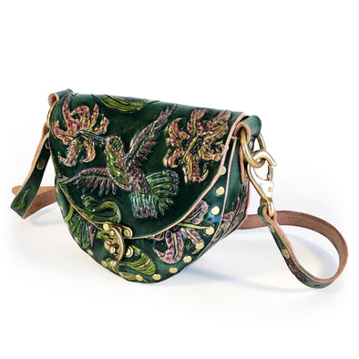 Hummingbird Mini Hobo – Green