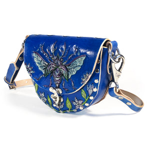 Stag Beetle Mini Hobo — Blue