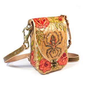 Spider and Rose Garden – Mini Master Hobo – Brown