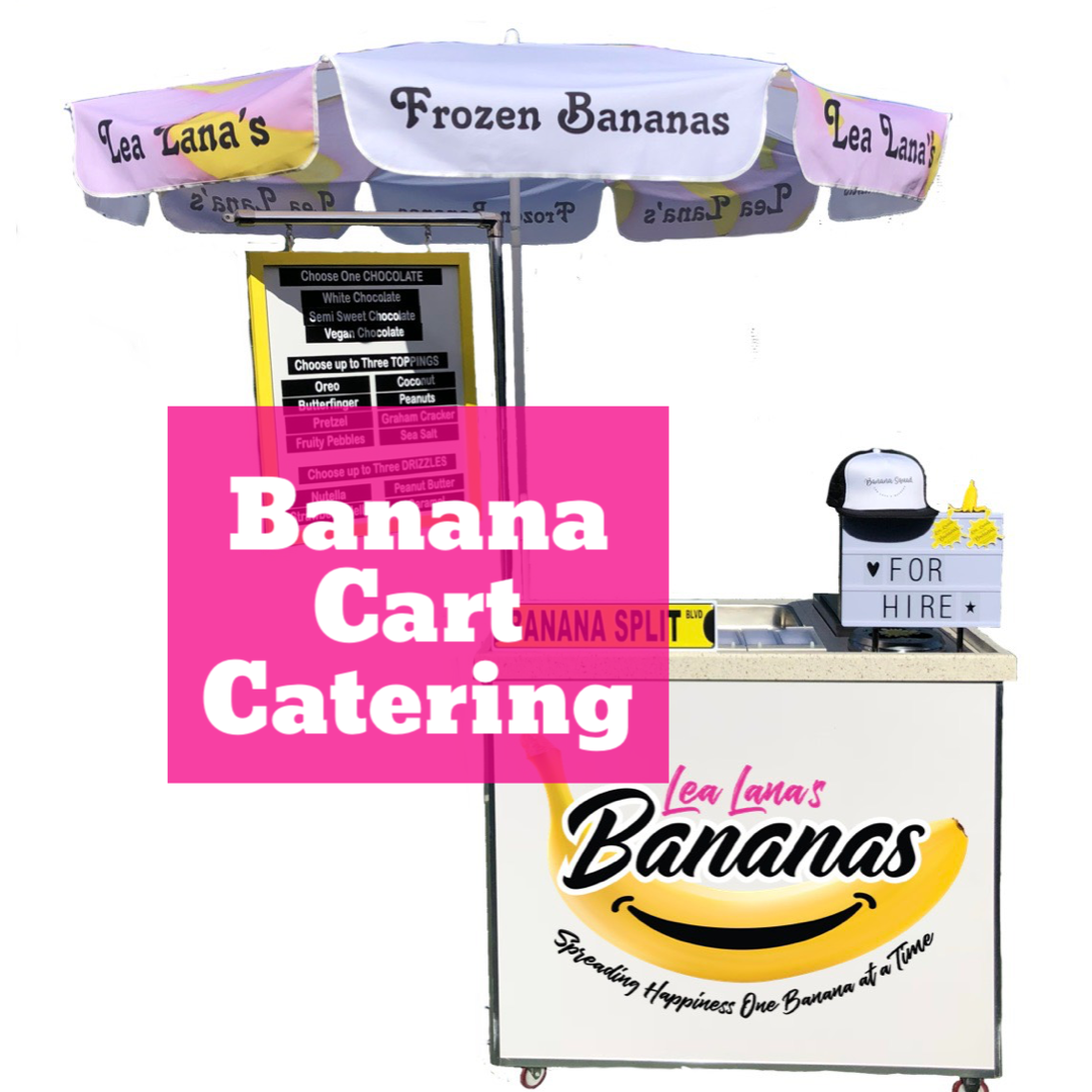 Booking our Banana Cart is the best party favor experience to give gifts to your guests.