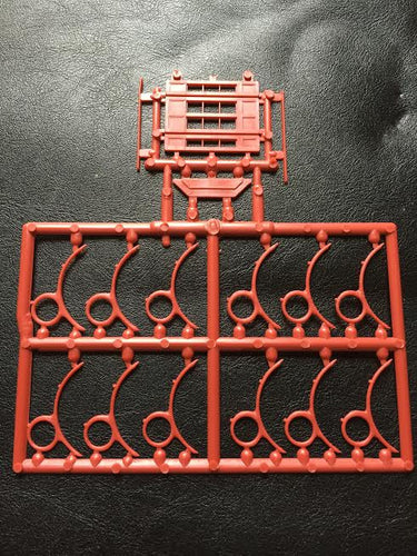Bay Window and Roof Braces Sprue