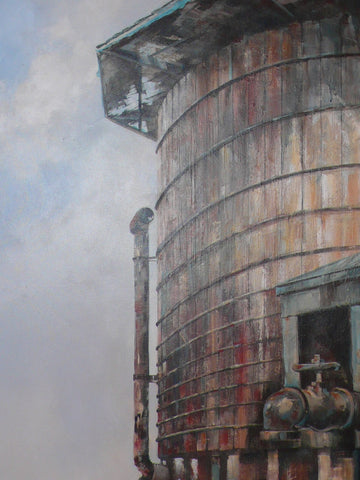 Embudo Water Tower, Embudo Station, NM - Painting Reproduction