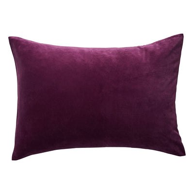 Simo Velvet Pillowcase in Boysenberry