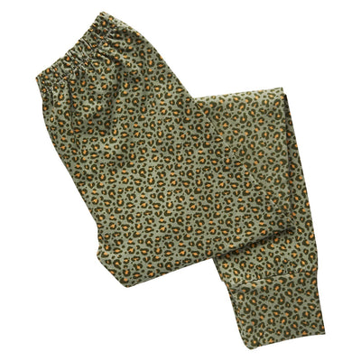 Tana Cotton Legging in a saltbush leopard print design