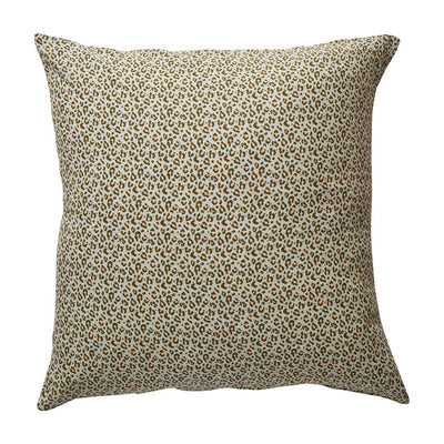Ajo Linen Euro Pillowcase in a Saltbush leopard print design