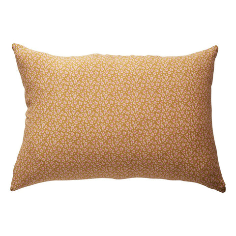 Ajo Linen Pillowcase set in honey and animal print