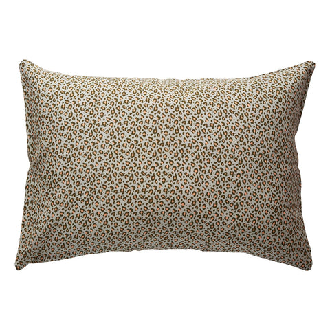 Ajo linen pillowcase (saltbush) set in a leopard print design