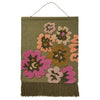 Almarita Woven Wall Hanging in multi-coloured wandering floral design and fringing