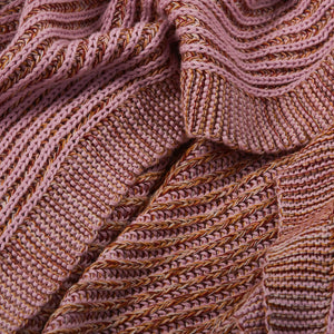 Alkali Knit Throw - Reversible throw, loosely knitted to showcase the melange seasonal hues.