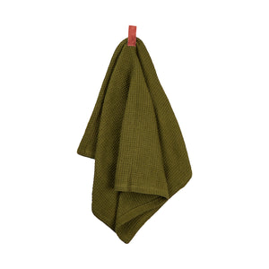 Ananda Ribbon Tea Towel - Moss