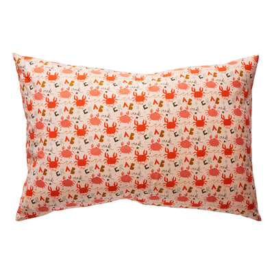 Bumbi Cotton Pillowcase in an illustrated crab design