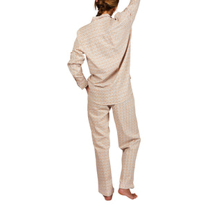 Booth Speckle Linen Blend PJ's. Hand printed speckle pyjamas with piped finish. Comes in extra small, small, medium, large.