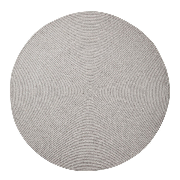 Braided Round Wool Rug Lilac Grey
