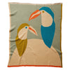 Casanita Baby Blanket in multi-colour, with an illustrated bird design