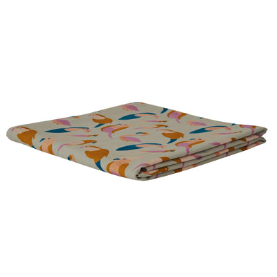 Condo Flat Sheet in a multi-coloured bird design