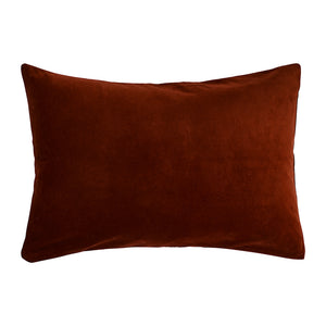 luxury cotton velvet pillowcase in dark red