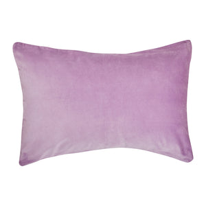luxury cotton linen pillowcase in purple lilac lavender