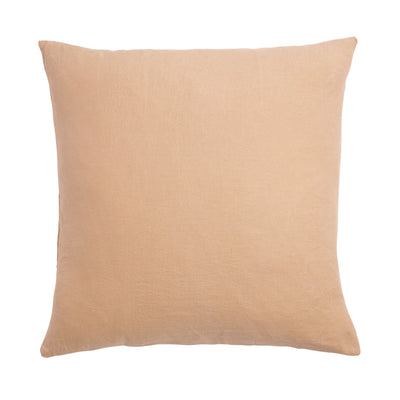 Cashew French Flax Linen Euro Pillowcase Set