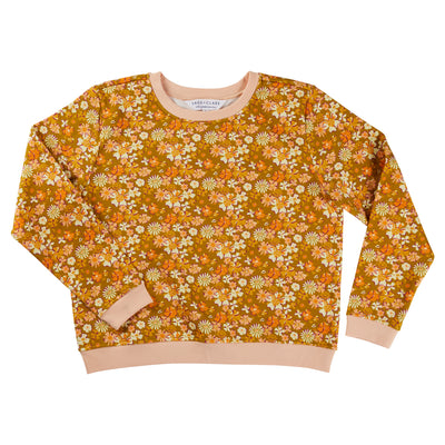 Cheri Cotton Printed Floral Sweater Sage x Clare
