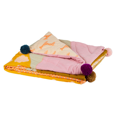 Clary Spot Kids Cotton Bedcover Pompoms