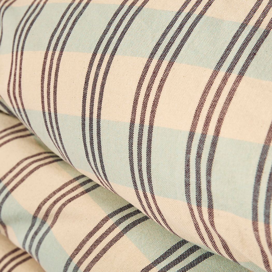 Darcy Ticking Quilt Cover Aqua