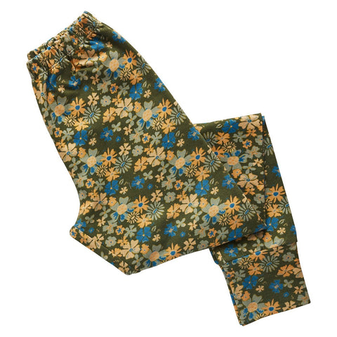 Elsie Cotton Legging in a multi-coloured vintage floral design