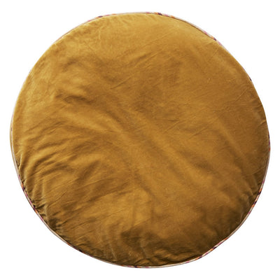 Etienne Velvet Floor Cushion in honey