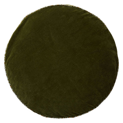 Etienne Velvet Floor Cushion in khaki