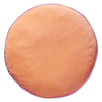 Etienne Velvet Floor Cushion in nude