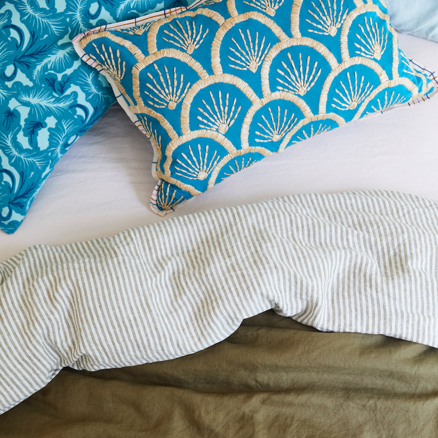 Elena Linen Euro Pillowcase Set