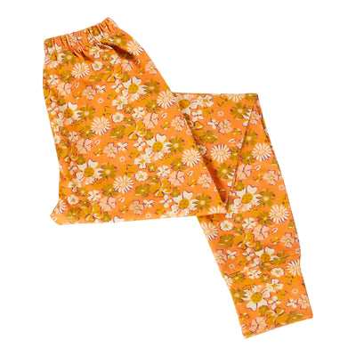 elsie cotton jersey floral womens legging in soda