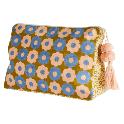 emma cosmetic toiletry bag with floral and animal prints