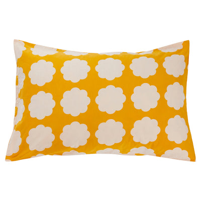 Faye Cotton Pillowcase Scallop Flower Sunflower Yellow