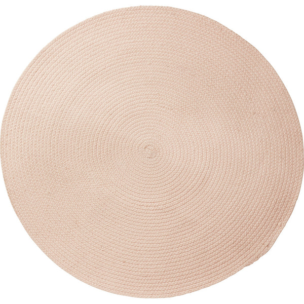 Hand woven seasonal blush rug in hard-wearing wool with an anti-slip reverse